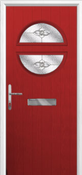 Circle Finesse Composite Front Door in Red