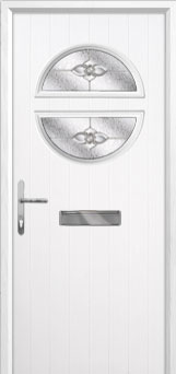 Circle Finesse Composite Front Door in White