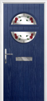 Circle Mackintosh Rose Composite Front Door in Blue