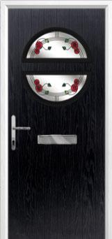 Circle Mackintosh Rose Composite Front Door in Black