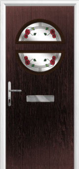Circle Mackintosh Rose Composite Front Door in Darkwood