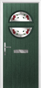 Circle Mackintosh Rose Composite Front Door in Green