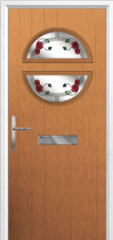 Circle Mackintosh Rose Composite Front Door in Oak