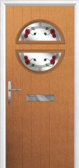 Circle Mackintosh Rose Composite Front Door in Oak
