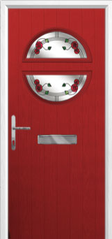 Circle Mackintosh Rose Composite Front Door in Red