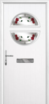 Circle Mackintosh Rose Composite Front Door in White