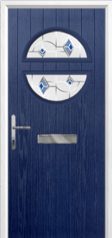 Circle Murano Composite Front Door in Blue