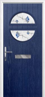 Circle Murano Composite Front Door in Blue