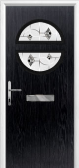 Circle Murano Composite Front Door in Black