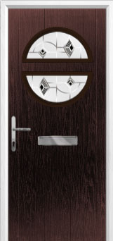 Circle Murano Composite Front Door in Darkwood