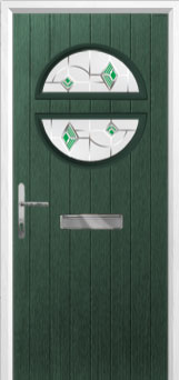 Circle Murano Composite Front Door in Green