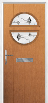 Circle Murano Composite Front Door in Oak