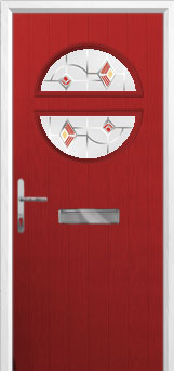 Circle Murano Composite Front Door in Red