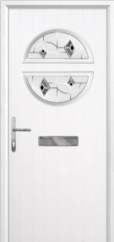 Circle Murano Composite Front Door in White
