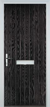 Cottage Composite Front Door in Black Brown