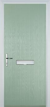 Cottage Composite Front Door in Chartwell Green