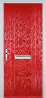 Cottage Composite Front Door in Poppy Red