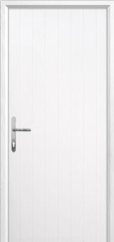 Cottage Composite Back Door in White