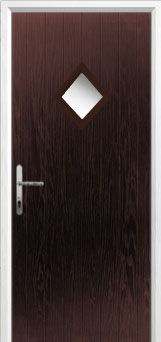 Diamond Composite Front Door in Darkwood