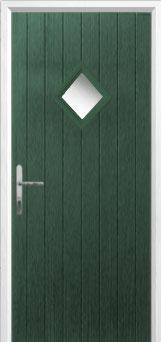 Diamond Composite Front Door in Green