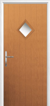 Diamond Composite Front Door in Oak