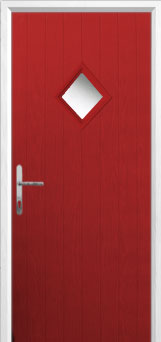 Diamond Composite Front Door in Red