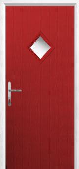 Diamond Composite Front Door in Red