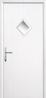 Diamond Composite Front Door in White