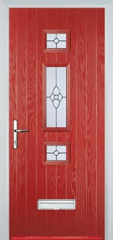 Mid 3 Square Finesse Composite Door in Red