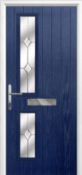 Twin Square Classic Composite Front Door in Blue