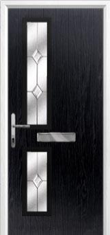 Twin Square Classic Composite Front Door in Black