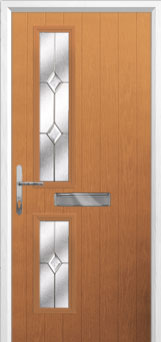 Twin Square Classic Composite Front Door in Oak