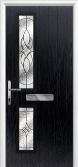 Twin Square Elegance Composite Front Door in Black