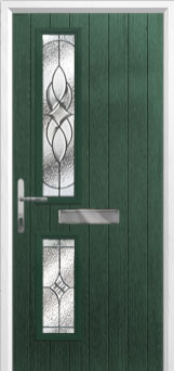 Twin Square Elegance Composite Front Door in Green
