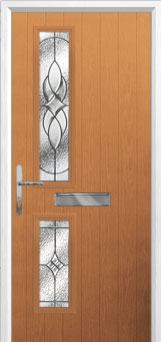 Twin Square Elegance Composite Front Door in Oak