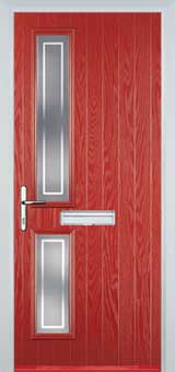 Twin Square Enfield Composite Front Door in Red
