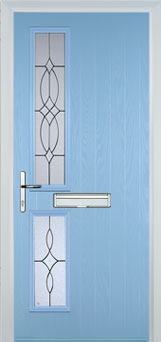 Twin Square Flair Timber Solid Core Door in Duck Egg Blue