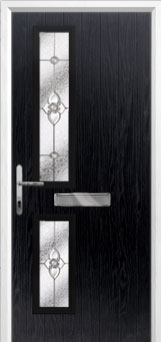Twin Square Finesse Composite Front Door in Black