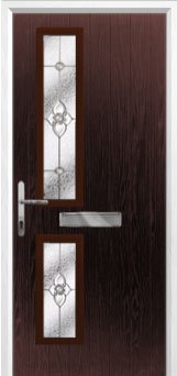 Twin Square Finesse Composite Front Door in Darkwood