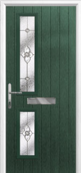 Twin Square Finesse Composite Front Door in Green