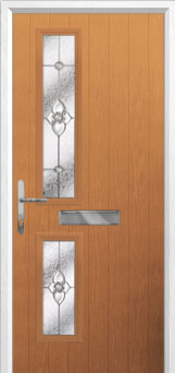 Twin Square Finesse Composite Front Door in Oak