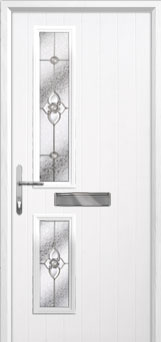 Twin Square Finesse Composite Front Door in White