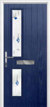 Twin Square Murano Composite Front Door in Blue