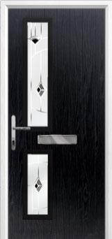 Twin Square Murano Composite Front Door in Black