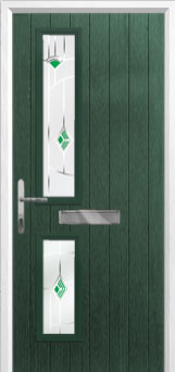 Twin Square Murano Composite Front Door in Green