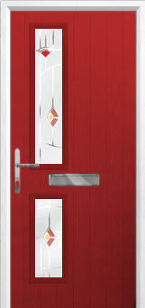 Twin Square Murano Composite Front Door in Red