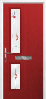 Twin Square Murano Composite Front Door in Red