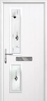 Twin Square Murano Composite Front Door in White