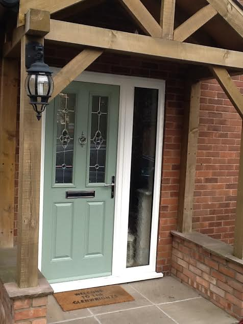 Composite Front Doors and Side Panels on
