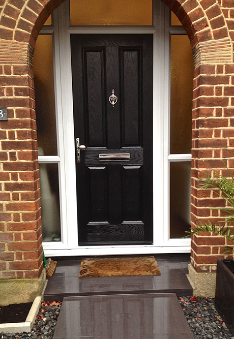 Black Door With Side Light : Side panels for upvc doors composite